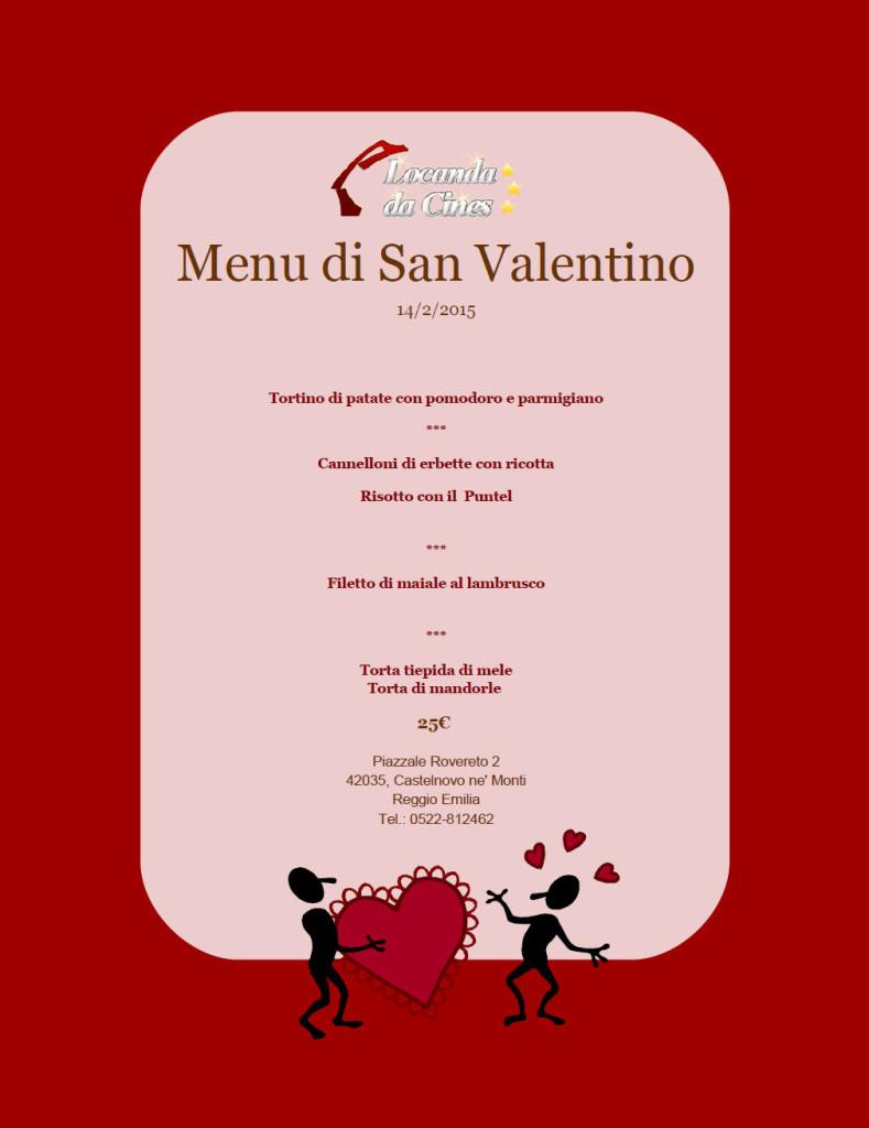 Men di san valentino 2015 locanda da cines for Pensierini di san valentino